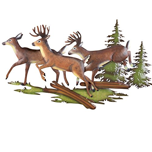 Woodland Running Deer Wall Art