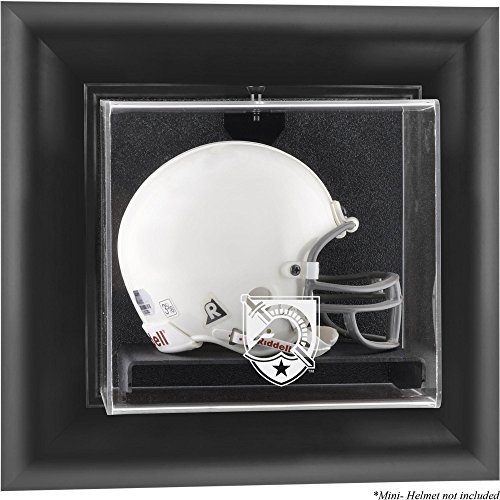 Sports Memorabilia Army Black Knights Black Framed (2015-Present Logo) Wall-Mountable Mini Helmet Display Case - College Mini Helmet Wall Mountable Display -