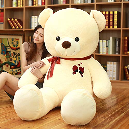 GOOGEE Teddy Bear - Large Teddy Bear Plush Toy Lovely Giant Bear Huge Stuffed Soft Dolls Kids Toy Birthday Gift for Girl - 24 Inch White - XL White Animals Fox Ms Fat Ted Coat Costume My from GOOGEE