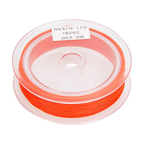 - ttnight 1pc Fly Line 3 Colors 50M Backing Line 20LB Fly Backing Braided Line (Red)
