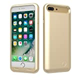TAMO EDGE 4000 mAh Dual-Purpose Ultra-Slim Protective Extended Battery iPhone 7 Plus Case, Gold (Premium Retail Packaging)
