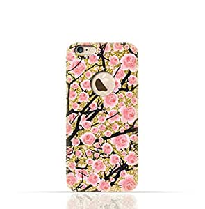 Apple iPhone 8 TPU Silicone Case with Gold Glitter Dual Layer Secura Design