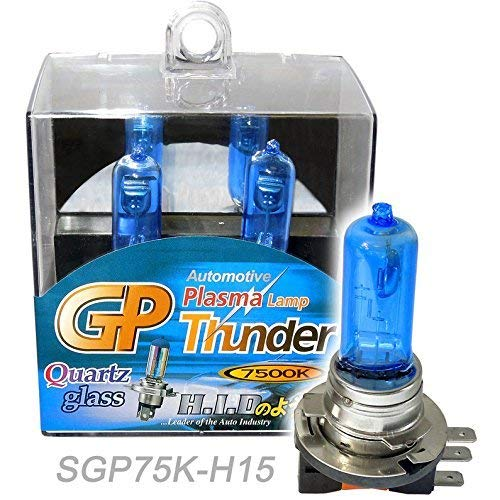 GP Thunder 7500K H15 15W / 55W Xenon Headlamp High Beam / DRL for Audi / BMW / Mercedes Benz / Volkswagen Jetta / Golf / Tiguan SGP75K-H15