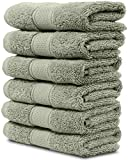 6 Piece Washcloth Set. 2017(New Collection). Premium Quality Turkish Towels. Super Soft, Plush and Highly Absorbent. Set Includes 6 Pieces of Washcloths. By Maura. (Washcloth - Set of 6, Sage Green)