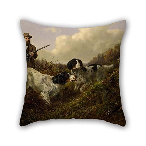 20 X 20 Inches / 50 By 50 Cm Oil Painting Arthur Fitzwilliam Tait - Flushing Grouse, Long Lake, Hamilton County, New York Pillowcase Double Sides Ornament And Gift To Deck Chair Car Seat Divan Stu