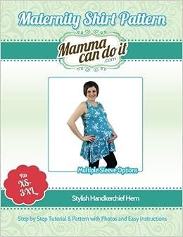 Maternity Shirt Pattern | Handkerchief Hem: Elizabeth