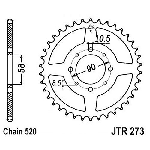 - JT-sprockets jTR 273-41 de chaîne