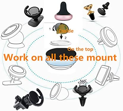Mount Metal Plate Set Replacement Adhesives for Pop Expanding Stand and Grip, Removable Sticky Replacement Adhesive Stickers Pads for Cell Phone Stand Mount Holder Car Mount