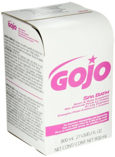 GOJO 9152-12 Spa Bath Body and Hair Shampoo, 800 mL Refill (Pack of (Spa Bath Body Hair Shampoo)