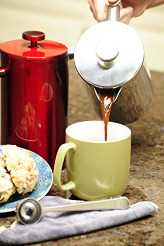 Best French Press Coffee Maker by FreshTek. Durable, No Plastic or Glass. 34oz Pot With Bonus ...