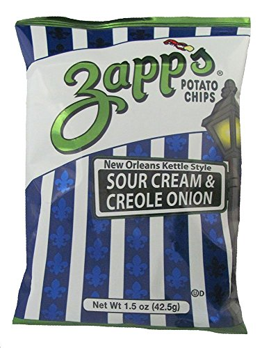 Zapp's Kettle Chips Bag, Sour Cream & Creole Onion, 1.5 oz (6-Pack)
