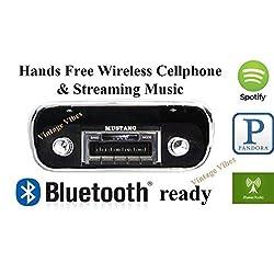 Bluetooth Enabled 1967-1973 Mustang USA-630 II High Power 300 watt AM FM Car Stereo/Radio