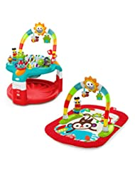 Bright Starts 2-in-1 Silly Sunburst Activity Gym and Saucer, ...
