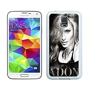 For Samsung Galaxy S5,100% Brand New Madonna Ciccone Black and White White For Samsung Galaxy S5 i9600 Case