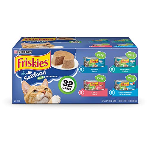 Purina Friskies Seafood Adult Wet Cat Food Variety Pack -  5