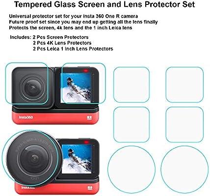 2x Display Schutz Folie für Insta360 One R Twin Edition 4K Weitwinkel-Mod