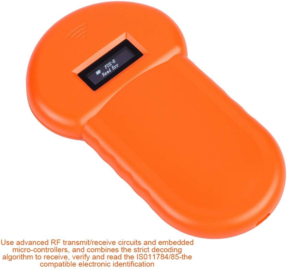 Jacksking Animal Reader 134.2Khz LCD ISO ID Chip Animal Reader RFID Dog Microchip Handheld Pet Scanner,Pet Scanner