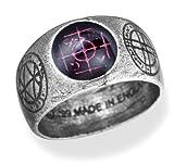 Agla Alchemy Gothic Pewter Talisman Ring - size 9 1/2