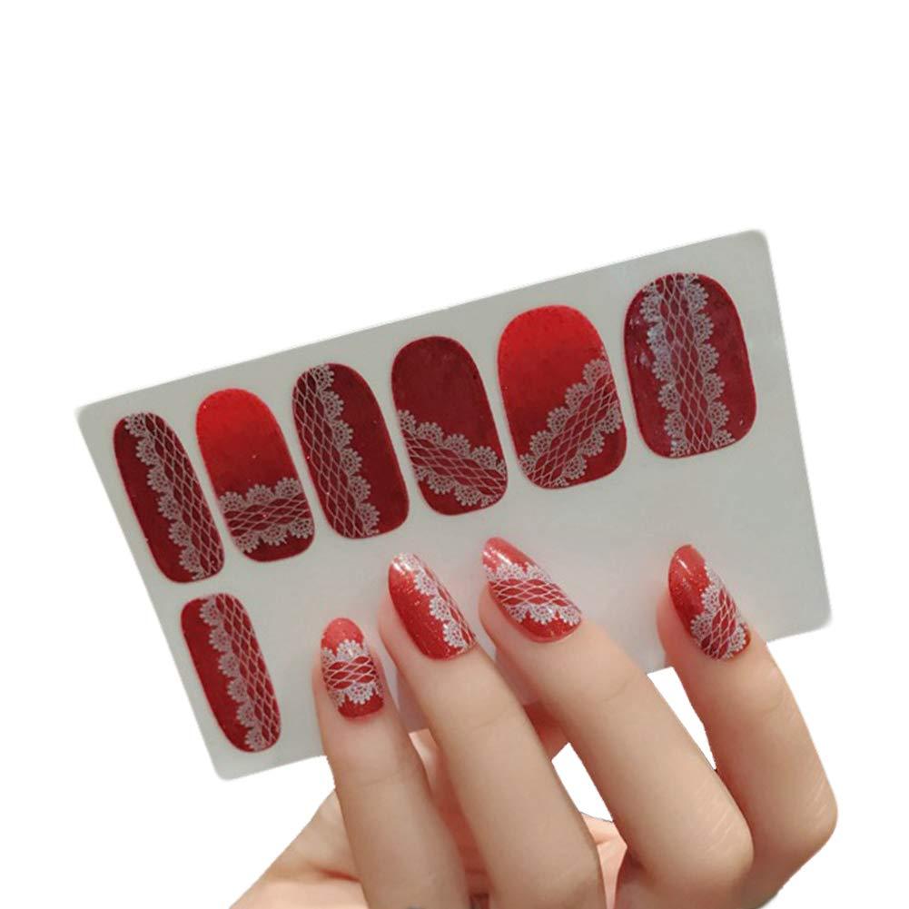 Kanggest. Brillante Pegatinas de Uñas para Las Uñas con Patrón Dibujos Animados y DIY Arte del Clavo Pegatina de Uñas Ambiental Apliques Herramienta de manicura(4)
