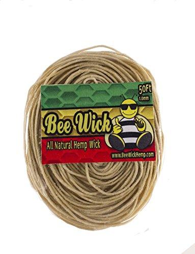 50ft-of-All-Natural-Hemp-Wick-by-Bee-Wick-Hemp-10mm