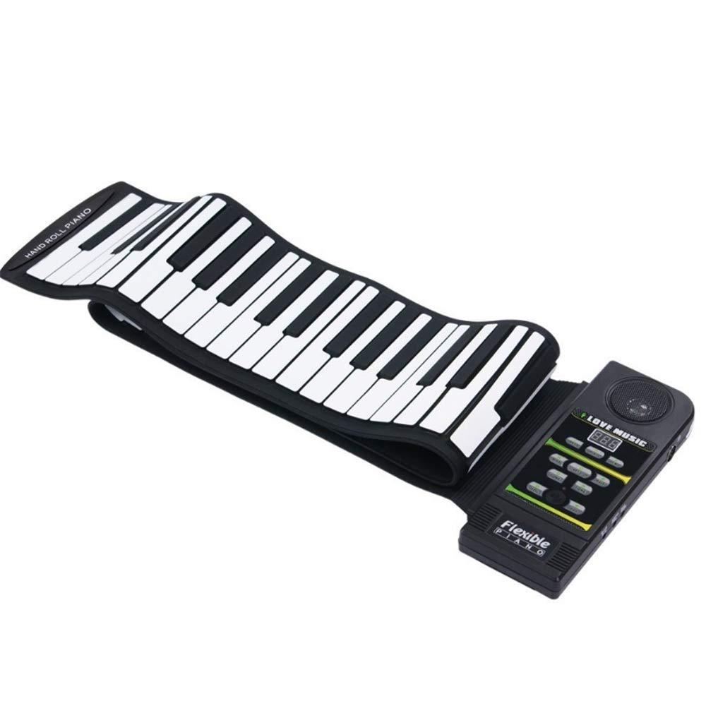ソフトキーボードピアノ 61鍵シリコンフレキシブルロールアップMIDI電子ピアノの初心者や子供のためのデザイン 初心者と子供のための B07RZHTQSB