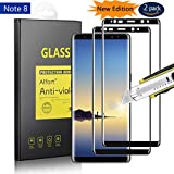 Samsung Galaxy Note 8 Screen Protector [2 Pack] Alfort 3D Tempered Glass Film for Galaxy Note 8 0.26mm 9H Anti-fingerprints Scratch Bubble-Free Full Coverage [ Black ]