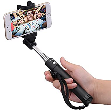 Mpow Selfie Stick, iSnap X Extendable Tripod with built-in Bluetooth Remote Shutter for iPhone 7/ 6s, Android & iOS Smartphones