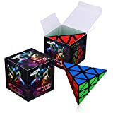 Dreampark Pyraminx Pyramid Speed Cube, Black