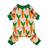 #4: Fitwarm Carrot Pet Clothes for Dog Pajamas Cat PJS Jumpsuits Shirts Large