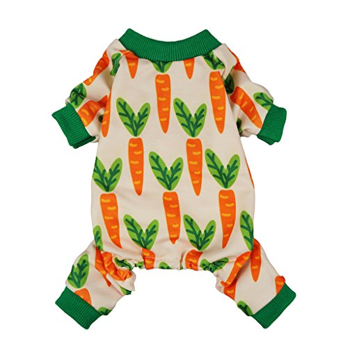51PfP%2BmkDJL - Fitwarm Carrot Pet Clothes for Dog Pajamas Cat PJS Jumpsuits Shirts
