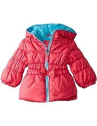 Baby Girls' Tonal Heart-Stamp Puffer Coat
