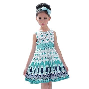 490f268f818b0 Racazing 子供洋服 十代の少女 ボヘミア ノースリーブ ワンピース 子供女の子服130 蝶結び プリンセス