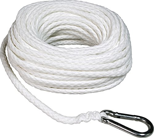 SeaSense Hollow Braid Anchor Line Polypropylene, 3/8-Inch X 75-Foot