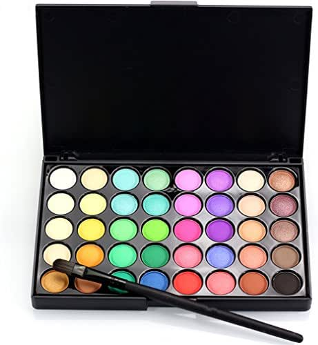 Pure Vie Professional Highlight Eyeshadow Palette Makeup Contouring Kit - 40 Colors Highly Pigmented Nudes Warm Natural Matte Shimmer Cosmetic Eye Shadows Pallet Powder Palette - Holiday Gift Set #2