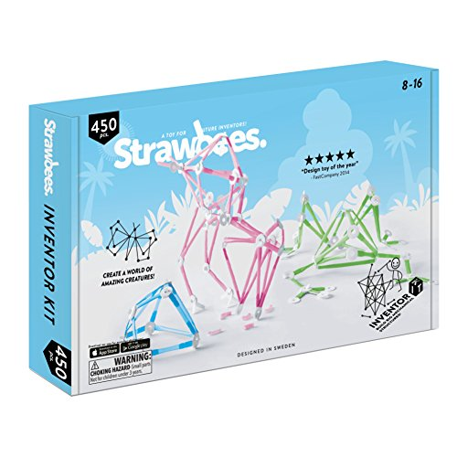 Strawbees STEM Inventor Kit | Educational construction set 450 pieces [ Kids +5 ] Creative projects.