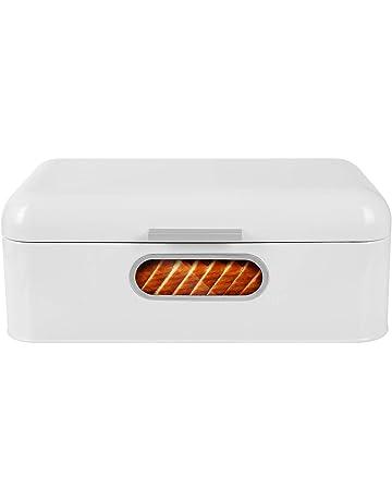 MVPOWER Panera de Metal Panera para Pan Caja de Almacenamiento Caja de Pan Pastel Comida con