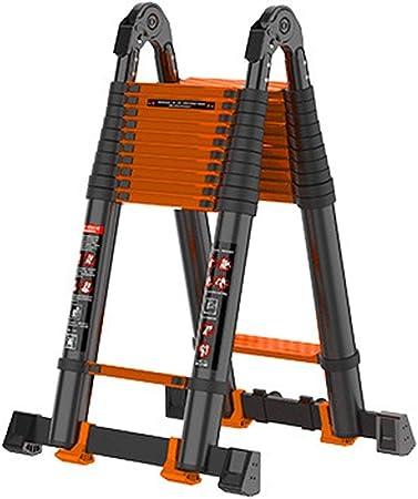 JLDN Extensión de escaleras de Aluminio, Escalera Plegable telescópicas escaleras de Tijera telescópica multipropósito escaleras Rectas,2.3+2.3m/7.5+7.5ft: Amazon.es: Hogar