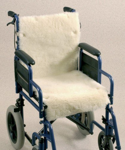 Synthetic Sheepskin Wheelchair Seat & Backrest - Sheepskin Synthetic