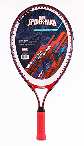 Marvel Junior Spider-Man Tennis Racquet, Red/White/Blue, 25'