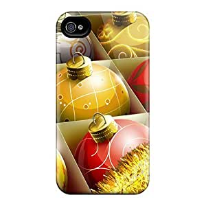 Iphone 4/4s Case Bumper Tpu Skin Cover For Hd Christmas Balls Accessories