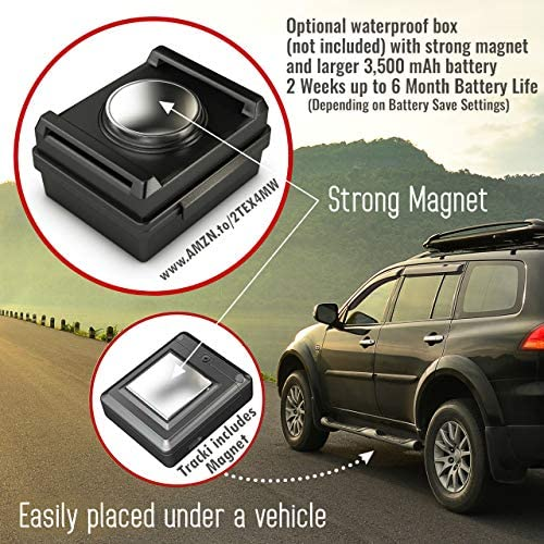 Tracki 2021 Model Mini Real time GPS Tracker. Full USA & Worldwide Coverage. for Vehicles, Car, Kids, Elderly, Dogs & Motorcycles. Magnetic Hidden Small Portable Tracking Device. Monthly rate Required