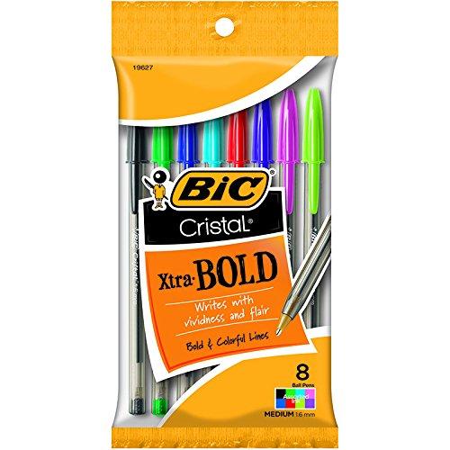 Bic Usa Inc BICMSBAP81 19627 Bic Cristal Xtra Bold Pack Of 8
