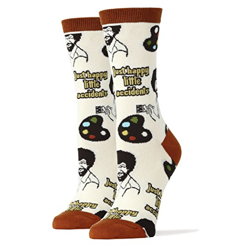 Oooh Yeah Socks Womens Luxury Combed Cotton Funny, Large, Happy Lil Accidents from ooohyeah