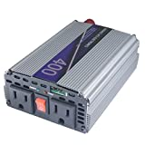 Advance MCS Electronics 12 Volt to 110 Volt DC to AC Power Inverter with USB (400 Watt, 3ft Cables)