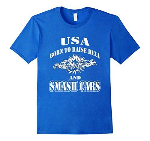 Mens Demolition Derby T shirt XL Royal Blue