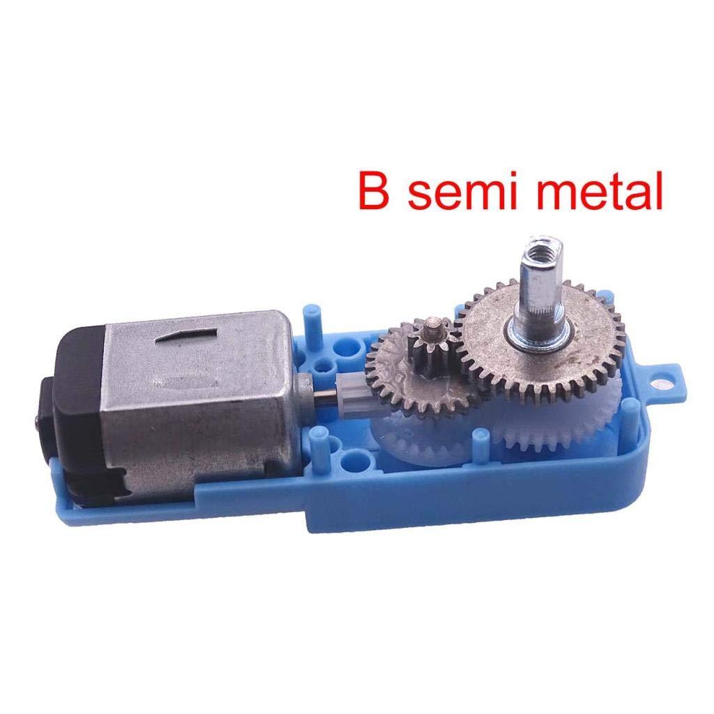 B Blesiya Motoriduttore DC Motore TT Ingranaggio Smart Auto Veicolo 1:90 Metallo Blu # 1