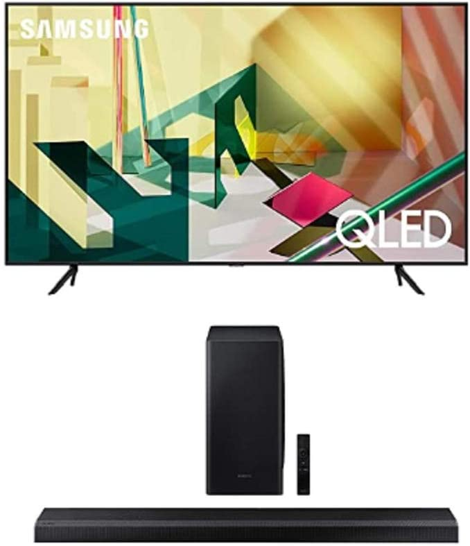 SAMSUNG 55-inch Class QLED Q70T Series - 4K UHD Dual LED Quantum HDR Smart TV with Alexa Built-in + HW-Q800T 3.1.2ch Soundbar with Dolby Atmos/DTS:X and Alexa Built-in (2020)