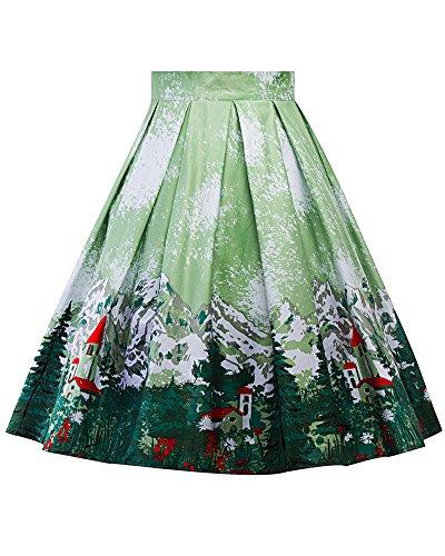Imprime Line Femme A Plisss Jupe Jupe Picture Patineuse 11 Floral Jupe As Style Vintage Rtro TnWTEFqp
