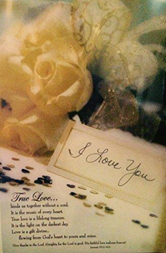 Wedding Bulletin/Stationery - Pkg. of 100.... True Love Binds Us Together (Jer. 33:11)