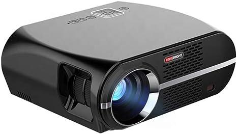 Opinión sobre QK Proyector, Proyector Video portátil Full HD Compatible con 1080P, Proyector LED Multimedia de Cine en casa, HDMI/USB/VGA/AV